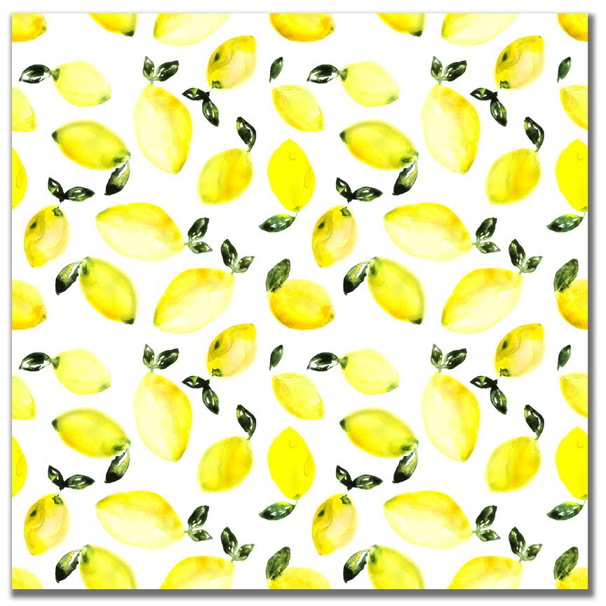 Watercolor Food Fun Lemons 12x12 Paper