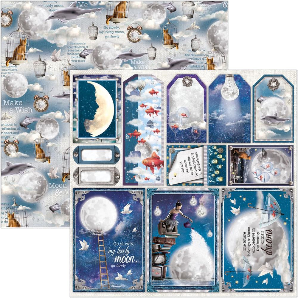 Moon & Me Frames & Tags Paper
