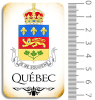 Quebec Crest Chipboard