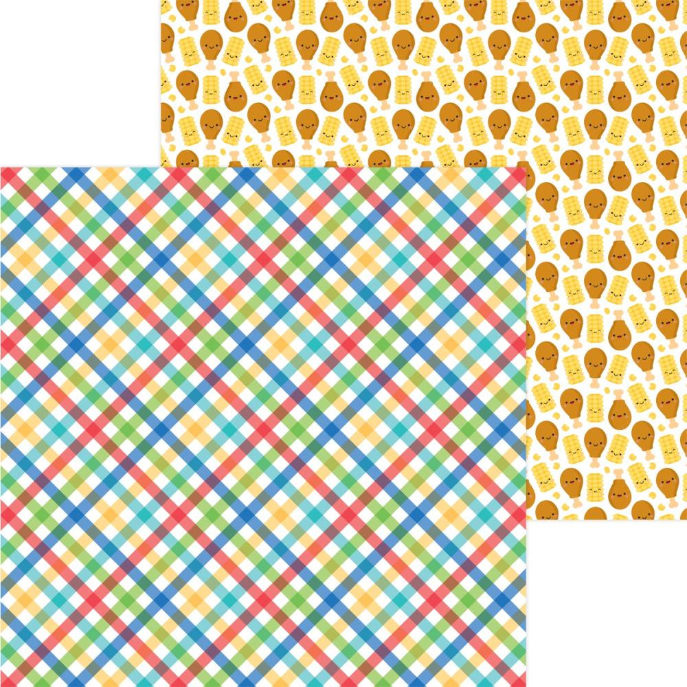 Bar-B-Cute Primary Plaid Paper