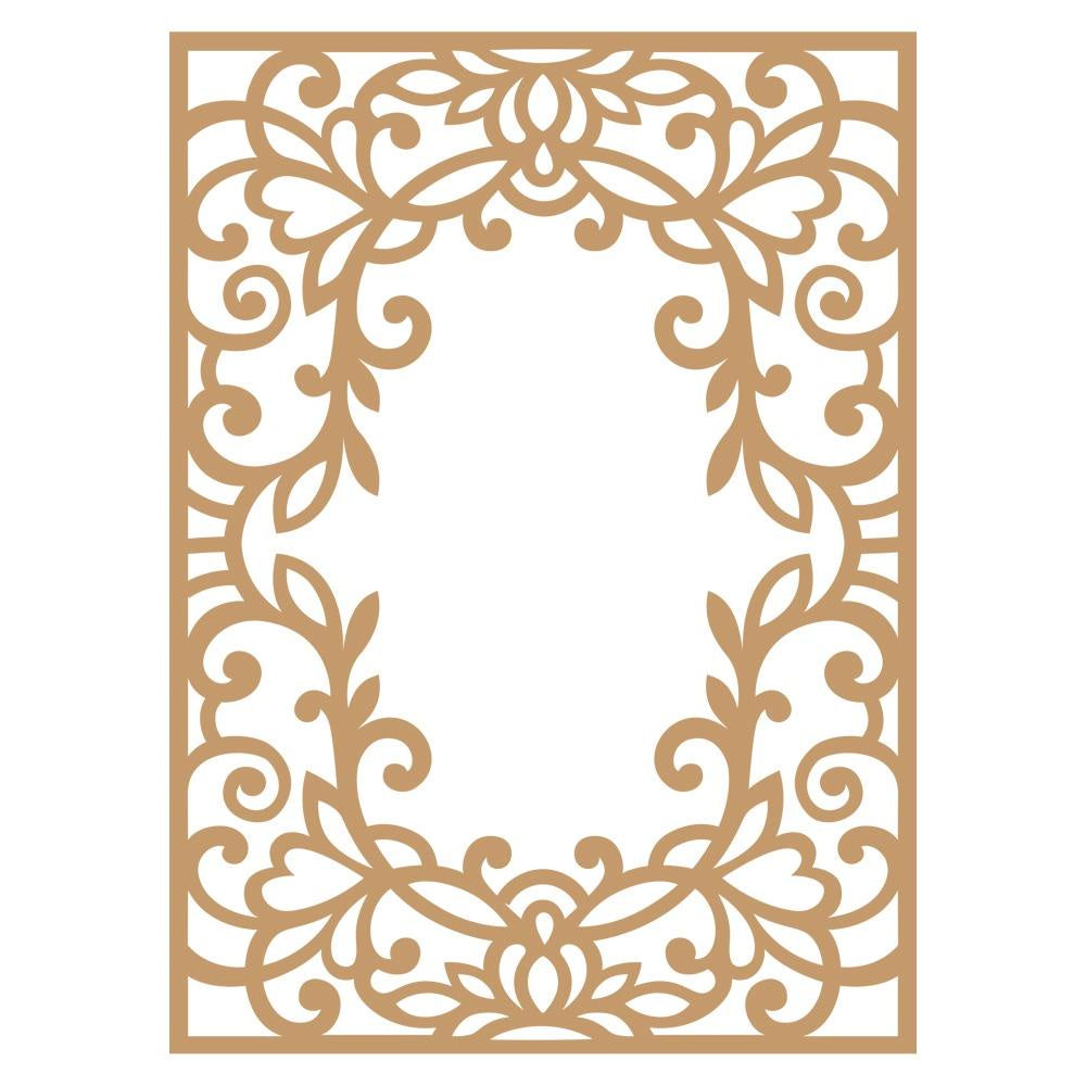 Vine Frame Laser Cut Chipboard
