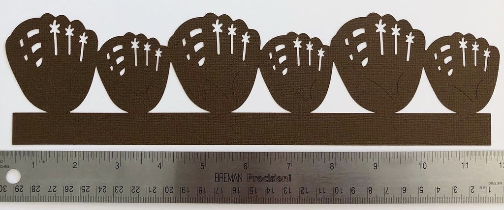Baseball Glove Border Die Cut