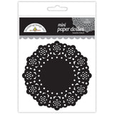 Beetle Black Mini Doilies