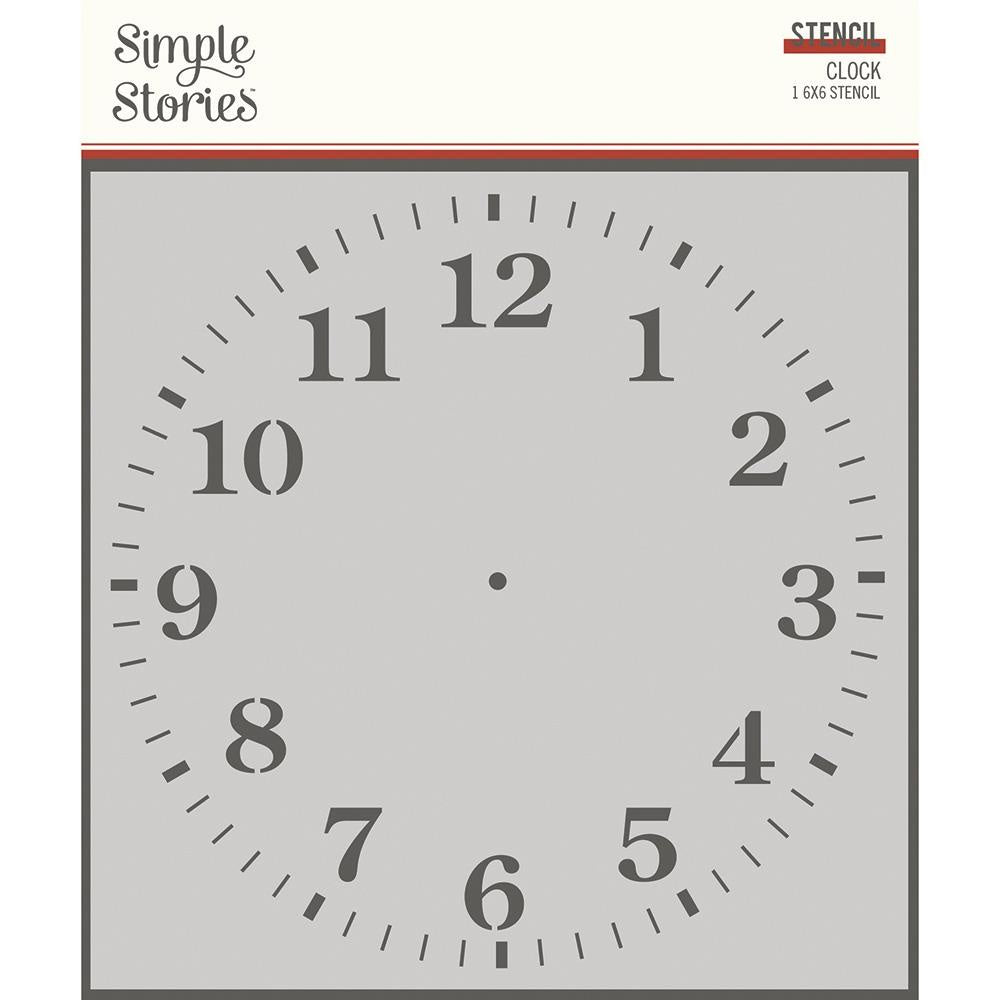 Simple Vintage Ancestry Clock Stencil