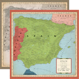 Cartography No.2 Spain 12x12 Paper