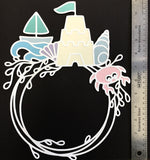 Beach Frame Layered Die Cut