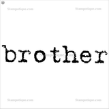 Brother Wood Mounted Stamp