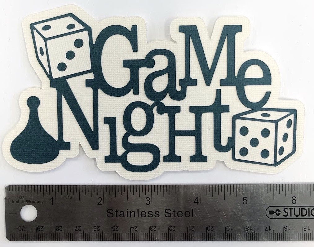 Game Night Layered Die Cut
