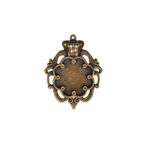 A Gilded Life Large Crown Brass Bezel