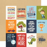 All Boy 3x4 Journaling Cards Paper