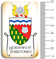 Northwest Territories Crest Chipboard