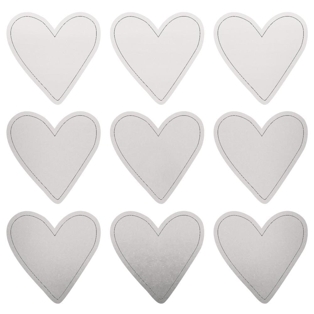 Lucky Dip Silver Heart Stickers