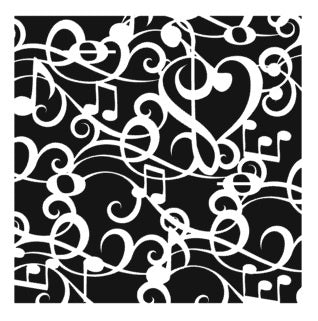 Music Note Background 6x6 Stencil