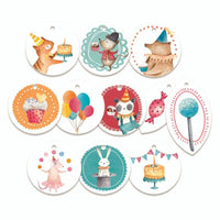 Happy Birthday Decorative Tags 01