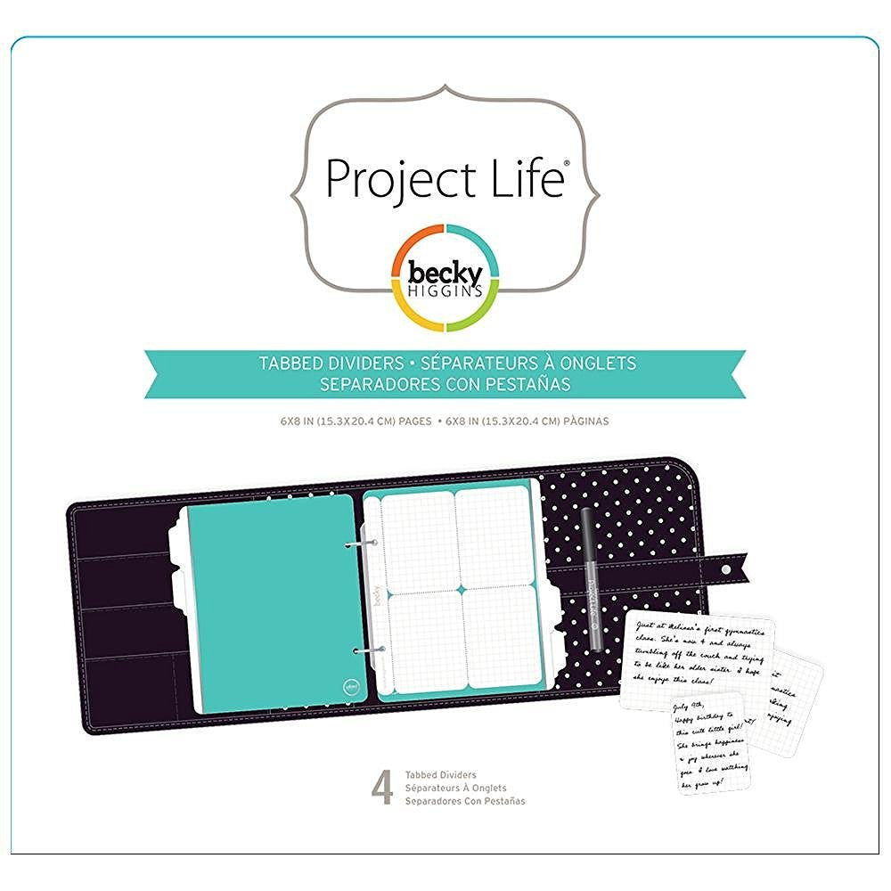Project Life Planner Tabbed Dividers