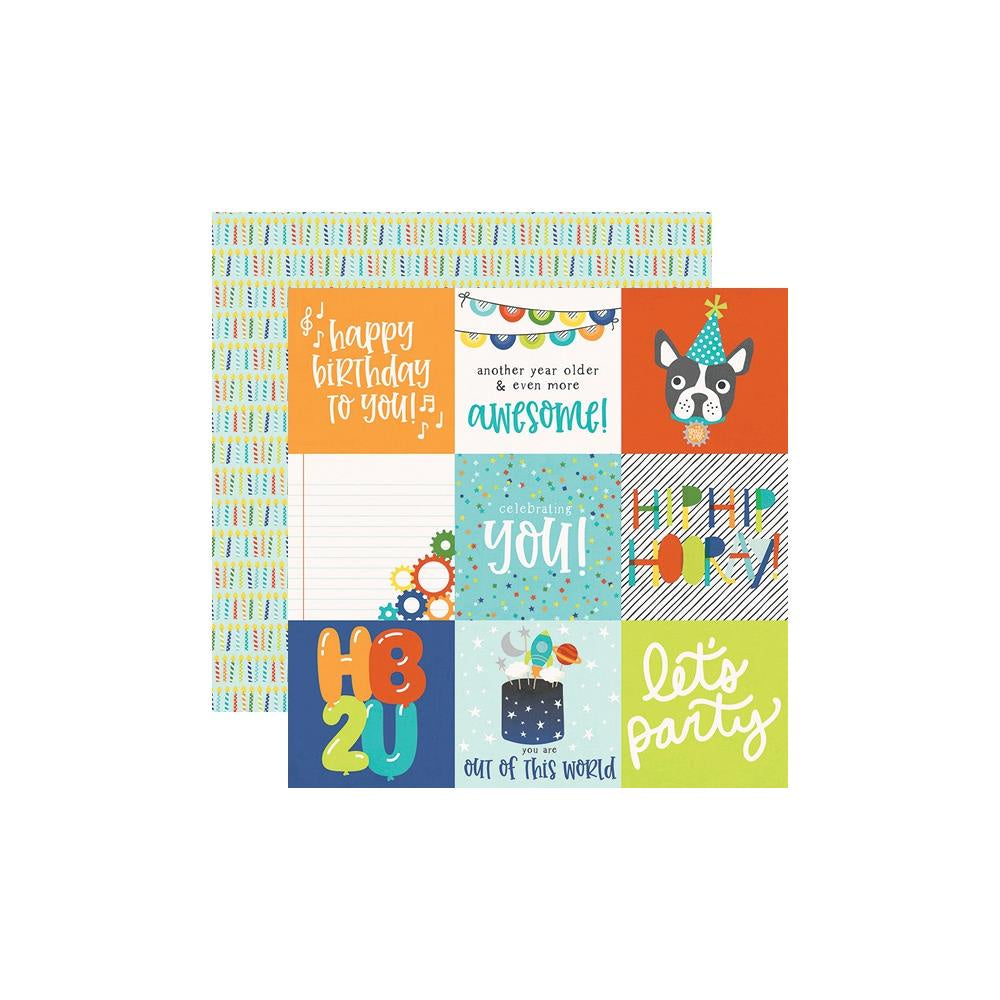 Birthday Blast 4x4 Elements Paper