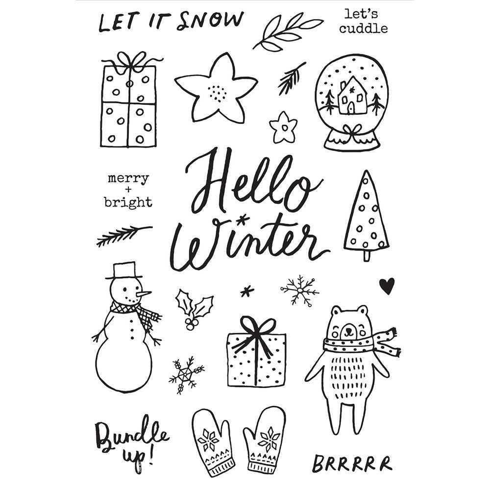 Winter Cottage 4x6 Stamp Set