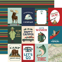 Outdoor Adventures 3x4 Journaling Card Paper