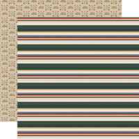 Outdoor Adventures Campfire Stripe Paper
