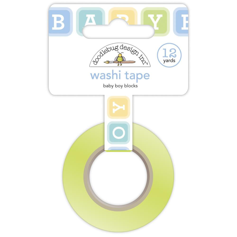 Special Delivery Baby Boy Blocks Washi Tape