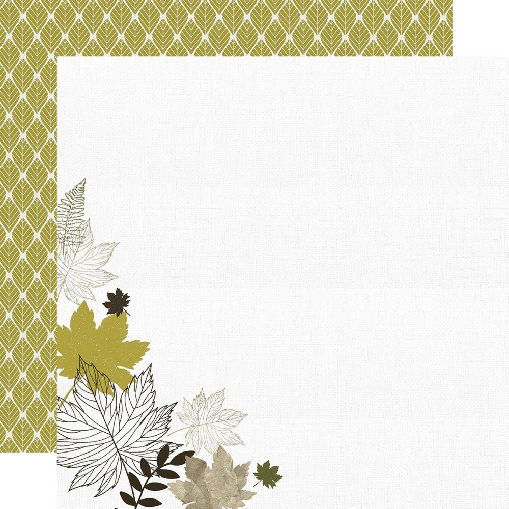 Fallen Leaves Warm Breeze Paper