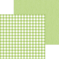 Limeade Buffalo Check - Wood Grain 12x12 Paper