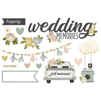 Happily Ever After Wedding Memories Page Pieces