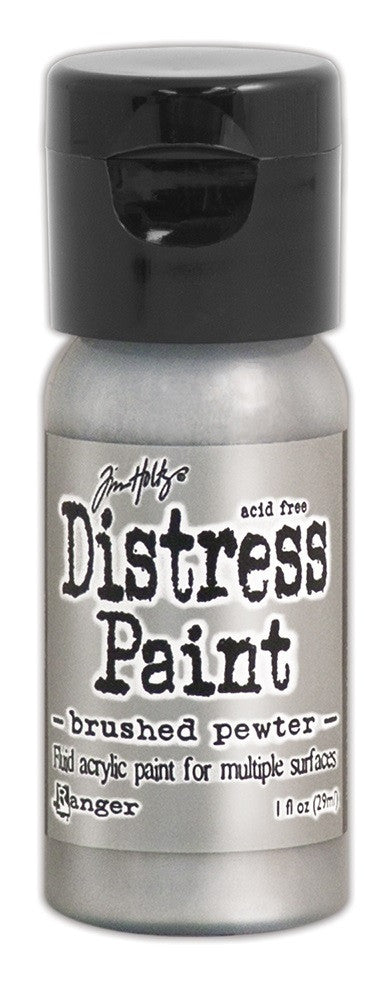 Brushed Pewter Flip Top Distress Paint