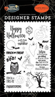 Happy Halloween Toil & Trouble Stamp