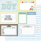 Baby Boy Journaling cards 12x12 Paper