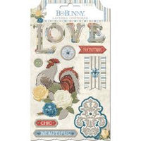 Boulevard Layered Chipboard Stickers