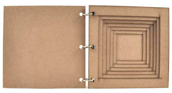 "6"" x 6"" Square Tunnel Book"