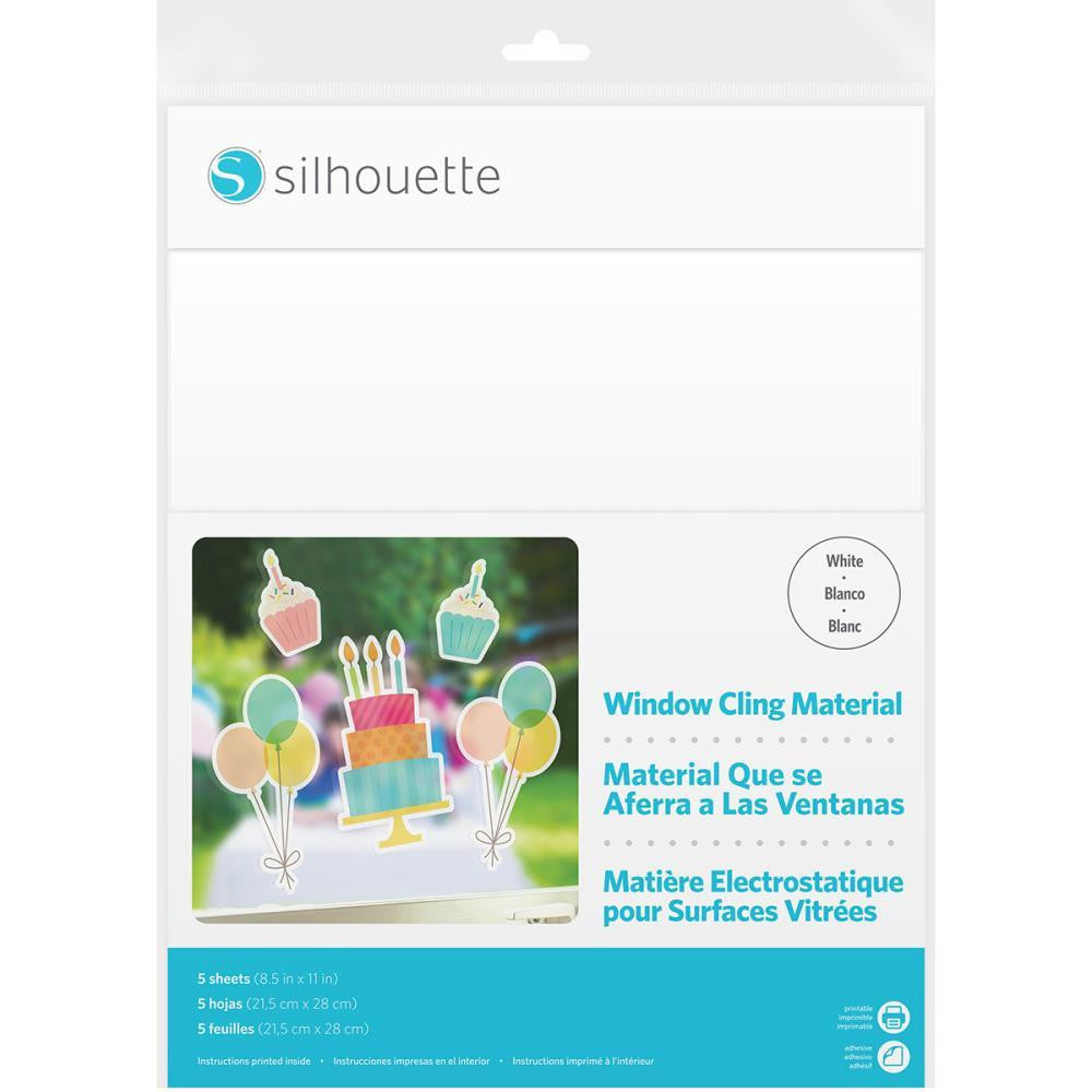 Silhouette White Window Cling Material
