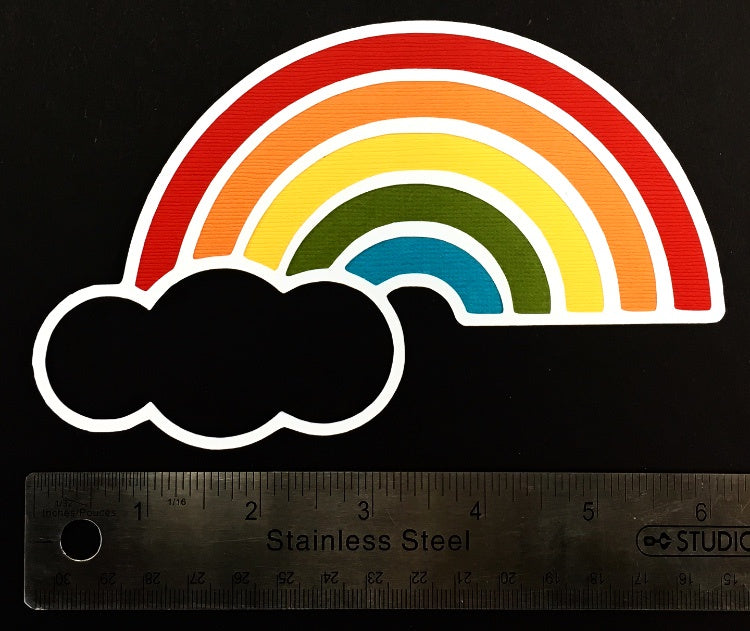 Rainbow Layered Die Cut