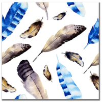 Watercolor Feathers 3 12x12 Paper