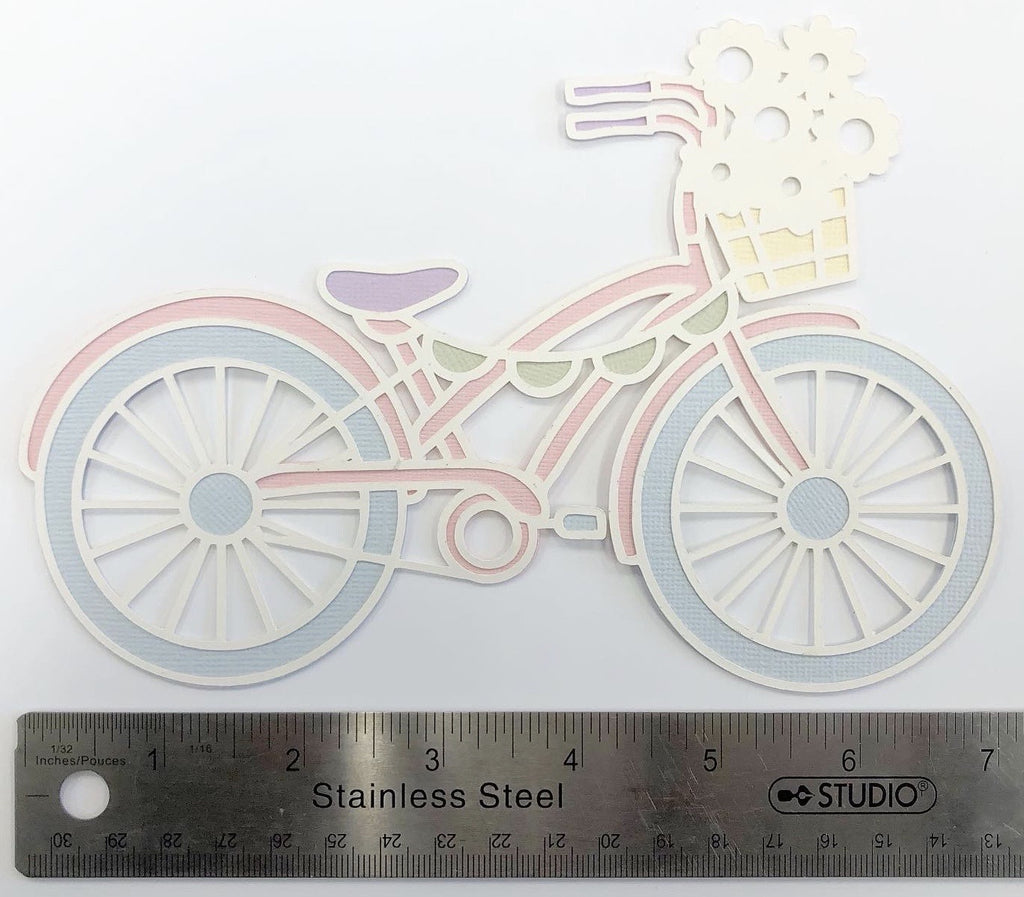 Spring Bike Layered Die Cut