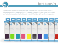 Metallic Silver Heat Transfer Material