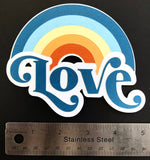 Love Rainbow Layered Die Cut