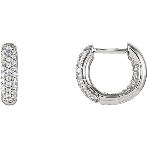 Sterling Silver CZ In Out Hoop Earrings - Cailin's