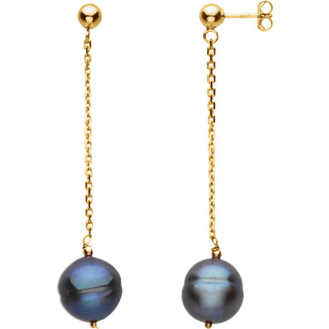 Freshwater Black Pearl Post Earrings - Cailin's