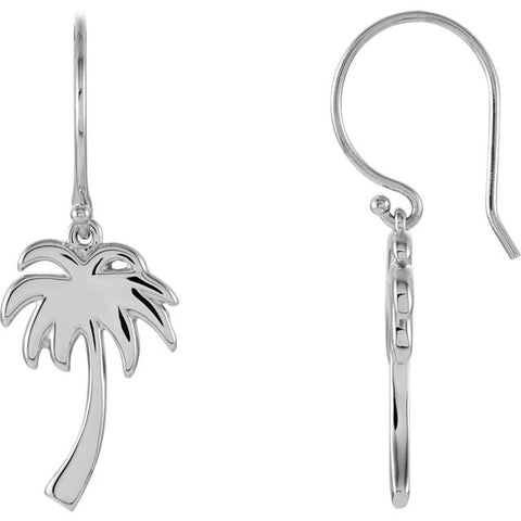 Palm Tree Wire Earrings - Cailin's