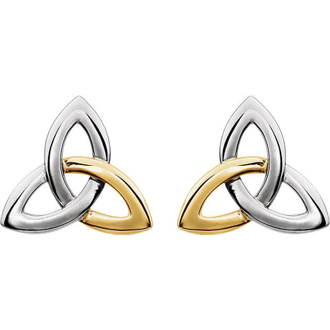 14K Gold Celtic Trinity Knot Post Earrings - Cailin's