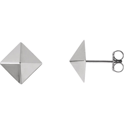 14K Gold Perfect Pyramid Post Earrings - Cailin's
