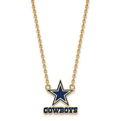 925 Sterling Silver NFL dallas Cowboys Football Necklace - Cailin's
