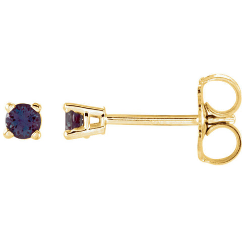 14K Yellow Gold Classic Gemstone Post Earrings - Cailin's