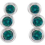 14K Gold Genuine Gemstone Ear Climbers - Cailin's