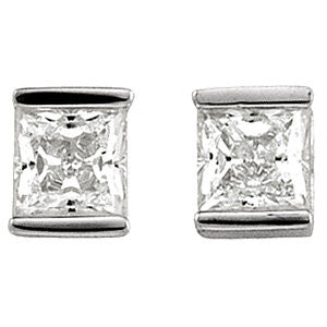 Sterling Silver CZ Bar Earrings - Cailin's