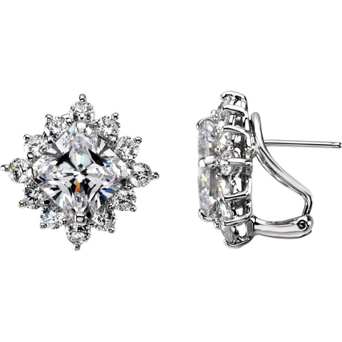 Sterling Silver Cubic Cluster Earrings - Cailin's