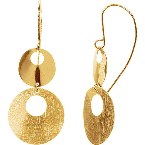 14K Yellow Gold Elegant Circle Earrings - Cailins | Fine Jewelry + Gifts