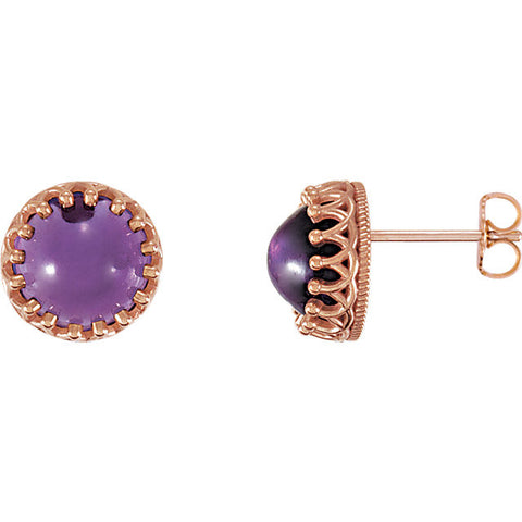 Crown Gemstone Post Earrings - Cailin's